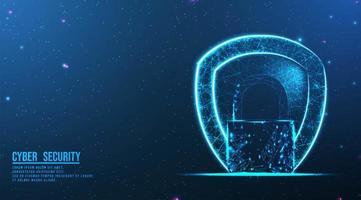 abstrakt lås och sköld design vektor