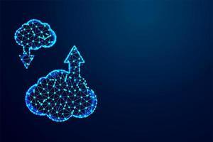 abstrakte Cloud herunterladen, Low Poly Design hochladen vektor
