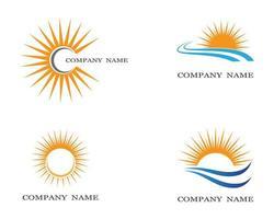 sun logotyp set vektor