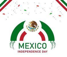 mexico självständighetsdagen design med färgglada element vektor