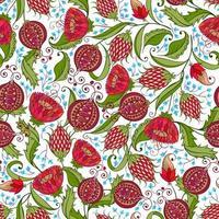 granatäpple sömlösa mönster