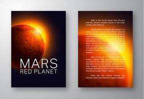 Mars Broschüre Vorlage