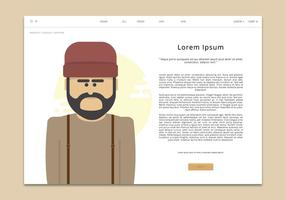 Hosenträger Männer Mode Webseite Vorlage vektor