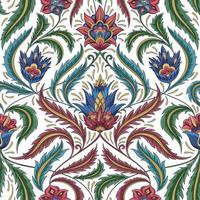 klassisches Blumenmuster vektor