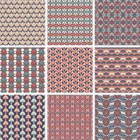 uppsättning färgglada geometriska vintage mönster vektor