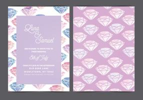 Vektor vattenfärg pärla bröllop inbjudan