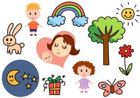 Freie Kindheit Vektoren