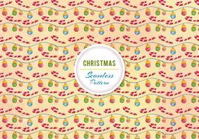 Weihnachtsverzierung und Zuckerstange-Vektor