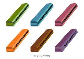 Vector harmonica icons