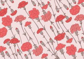 Carnation mönster klassisk vektor