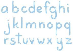 Freie Wasser Buchstaben Vektoren