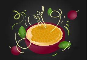 Energetisk Passion Frukt Vektor Illustration