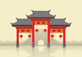 Kina Town Illustration vektor