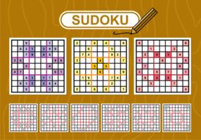 Sudoku-Vektor-Set vektor