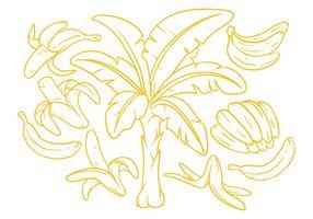 Kostenlose Bananen Illustration Vektor