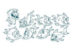 Freier Cartoon Barracuda Vektor