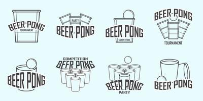 Gratis Öl Pong Logo Vector