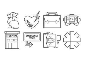 Free Cardiopulmonary Resuscitation Icon Vektor