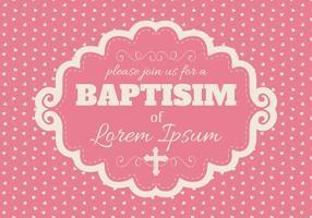 Nette rosa Baptisim Karte vektor