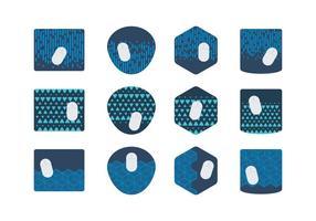 Mausunterlage mit Muster-Entwurf vektor