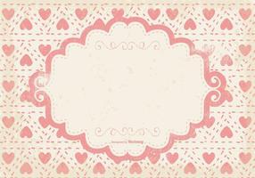 Nette rosa Herzen Grunge Hintergrund vektor