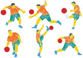 Kostenlose Kickball Icons Vektor