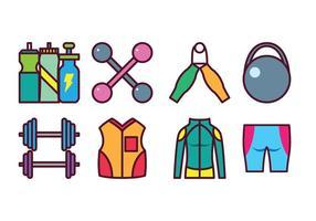 Free sport gear icon set vektor