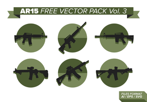 AR15 Silhouettes Gratis Vector Pack
