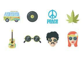 Freier Hippie-Vektor