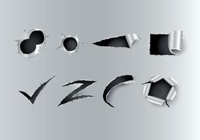 Gratis riven metallvektor vektor