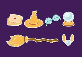 Hogwarts Element Icons Vektor Set