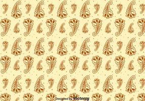 Brown Kaschmir Nahtloses Muster vektor
