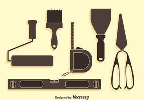 Home Bau Werkzeuge Silhouette Vector Set