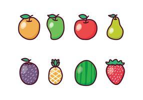 Freies Obst Icon Set vektor