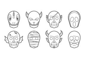 Kostenlose Halloween Maske Icon Vektor