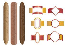 Zigarre Und Die Etiketten Vorlage vektor