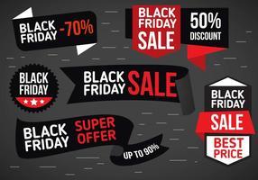 Gratis Vector Black Friday Labels