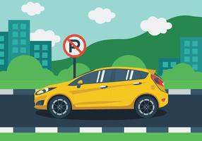 Illustration von Ford Fiesta vektor