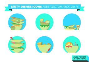 Schmutzige Teller Icons free vector pack vol. 4