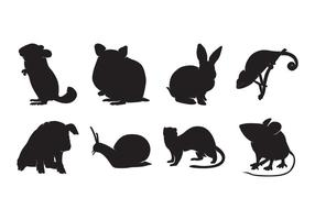 Free Tier Pet Silhouetten Vektor