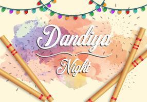 Illustration von Garba Nacht Indien Party vektor