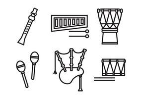 Satz von Instrumenten vektor