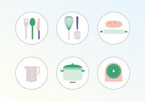 Matlagningsvektor ikoner vektor