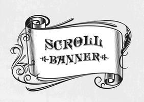 Gratis Vector Vintage Scroll Banner