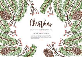Jul akvarell bakgrund vektor