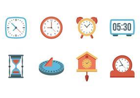 Freie Uhr und Uhren Vektor