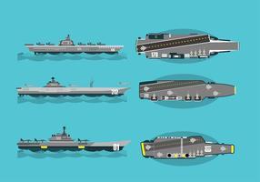 Flugzeugträger Freier Vektor
