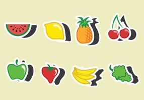 Fruktkylmagnet vektor