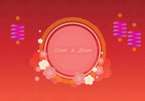 Chinesische Hochzeitsschablone Illustration vektor