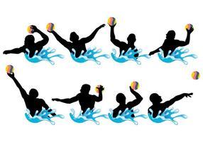 Freie Wasser Polo Icons Vektor